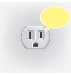 Plug socket faces vector