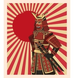 Samurai man cartoon design vector