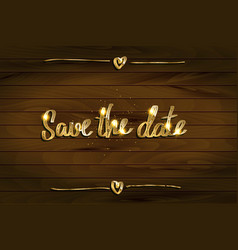 save our date invitation vector image