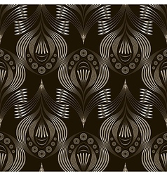 seamless pattern repeating linear texture vector image vector image