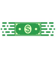 sign symbol investment dollar money bill movement vector image vector image