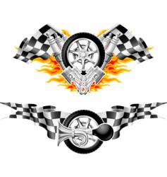 sports race emblems vector image vector image