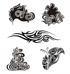 tattoo design elements vector image vector image