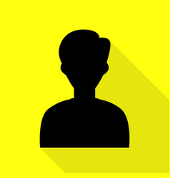 User avatar anonymous sign black vector