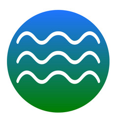 Waves sign white icon in vector
