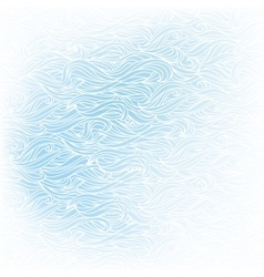 Wavy hand-drawn white pattern on blue background vector image vector image