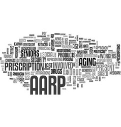 What is the aarp text word cloud concept vector