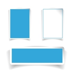 Empty label set blue vector
