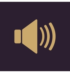 The speaker icon sound symbol flat vector