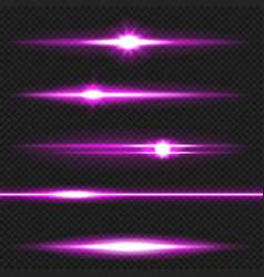 Purple laser beams pack vector