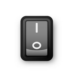 Black pc electric switch on position vector