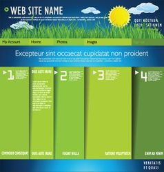 Modern nature web site design template vector