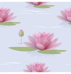 Seamless pattern with waterlilies vector