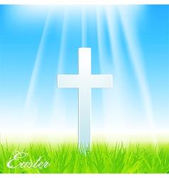 Easter cross vector image
