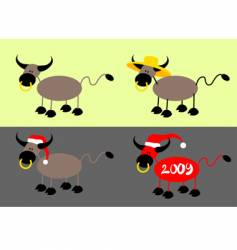 simple bull vector image