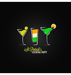 Patrick day cocktail design background vector