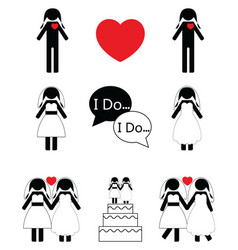 Gay woman wedding vector