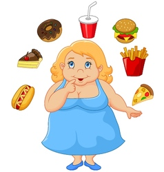 Cartoon fat woman vector