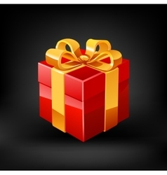 Red gift vector