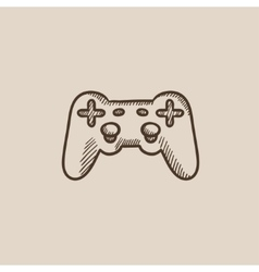 Joystick sketch icon vector