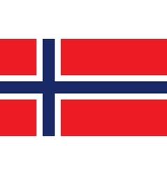 Norway flag image vector