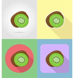 fruits flat icons 07 vector image