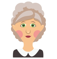 Elderly woman vector