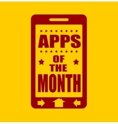 Apps of the month text on phone screen vector