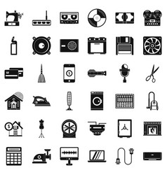 Appliance icons set simple style vector