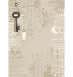 Background of the papyrus with occult symbols vector