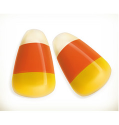 Candy corn 3d icon vector image