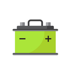Car battery flat icon isolated on white vector