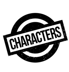 Characters rubber stamp vector