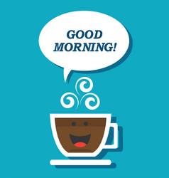 coffee mug and morning vector image vector image