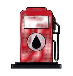 Color blurred stripe fuel dispenser machine vector