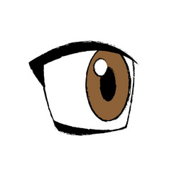 Comic eye looking expression vision vector