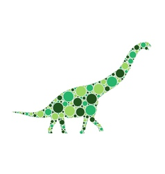 dotted dinosaur vector image vector image