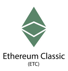 Ethereum classic cryptocurrency symbol vector