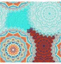 Ethnic floral seamless pattern vector image vector image