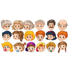 Faces vector image