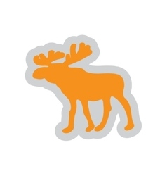 Flat web icon on white background elk vector