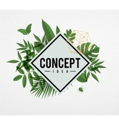 Frame floral concept green vector image vector image