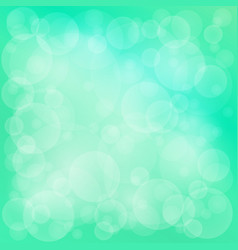 Green soft bright bokeh background vector