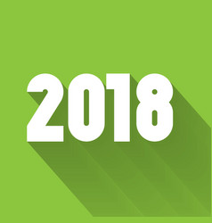 happy new year 2018 modern design element with vector image vector image