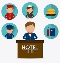 Hotel design vector image