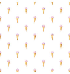 Ice cream cone pattern vector
