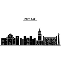Italy bari architecture city skyline vector