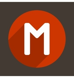 Letter M Logo Flat Icon Style vector image