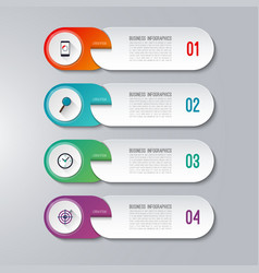 Modern infographic template with 4 options vector