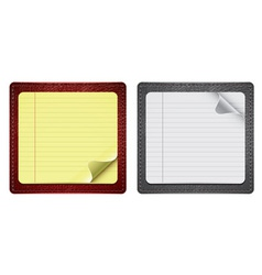 notepads with leather vector image vector image